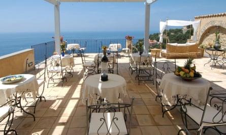 The Marulivo hotel in Pisciotta, Salerno is a 14th century monestary with sea views.