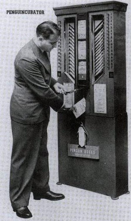 Allen Lane's book-vending Penguincubator charged sixpence a throw.