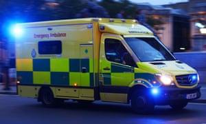 A London Ambulance, probably going 'Nee-naw Nee-naw'