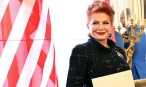 Georgette Mosbacher after receiving her credentials as the US ambassador to Poland in Warsaw on 6 September.