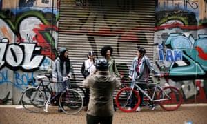 Bikes and grafitti in Newtown