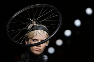 Milan, Italy A model presents a creation by Moschino during fashion week in Milan