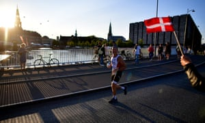 Athletes at a race in Copenhagen. Denmark will lift all Covid restrictions in September.