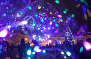 Celebrations in Palace Square, St Petersburg, Russia