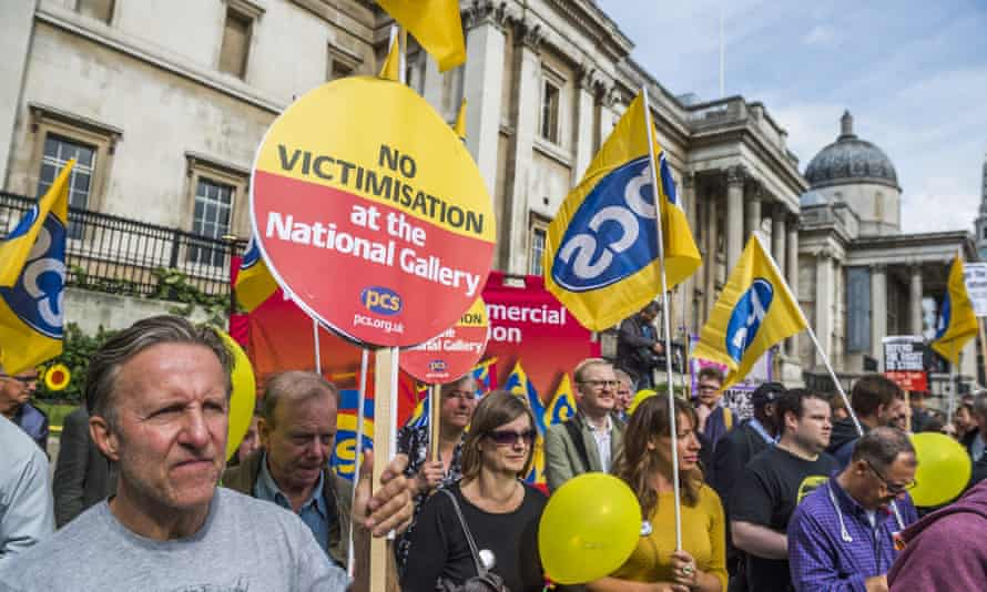 Industrial action at the National Gallery in London