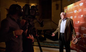 Pierre Koffmann is interviewed after receiving the Lifetime Achievement Award