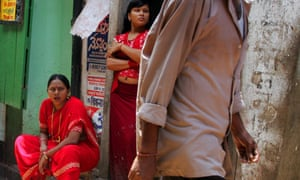 Sex workers in Sonagachi, Calcutta's biggest red light district