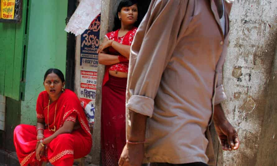 Sex workers in Sonagachi, Calcutta's biggest red light district