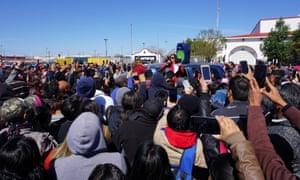 Employees of Autoliv Mexico, the world's largest automotive safety supplier, strike in Matamoros.