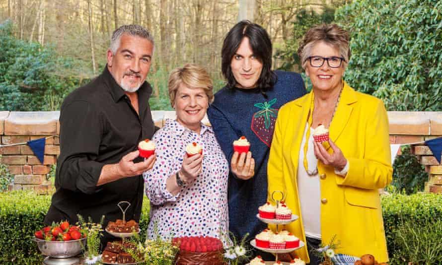 Paul Hollywood, Sandi Toksvig, Noel Fielding and Prue Leith of the C4 version of Bake Off.