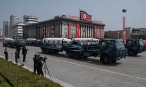 North Korea's missile launch comes just a day after a huge military parade in Pyongyang to mark the birth anniversary of founder Kim Il-sung.