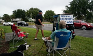 Ed McGinty, a 72-year-old retiree from Philadelphia living in the Trump stronghold retirement community The Villages in Florida, has been staging a daily protest against Donald Trump since his election in 2016.