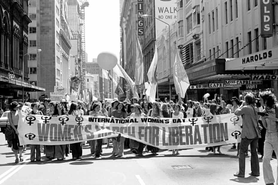 International Women's Day march in Sydney, 1975.