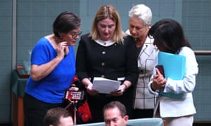 Crossbenchers Cathy McGowan, Rebekha Sharkie, Kerryn Phelps and Julia Banks. Independents are being asked which party they would support if the 2019 federal election produces a hung parliament