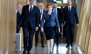 Nicola Sturgeon ahead of first minister's questions.