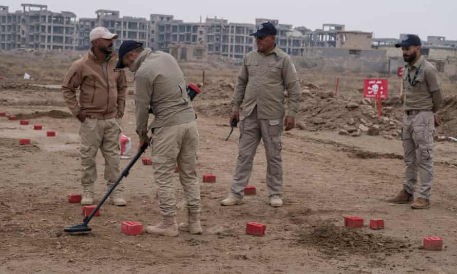 Halo Trust deminers on a training exercise in Fallujah