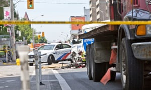 scene of a road traffic accident in toronto on 12 june 2018