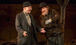 2013 With Patrick Stewart, left, in Beckett's Waiting for Godot, directed by Sean Mathias, at the Cort theatre, New York