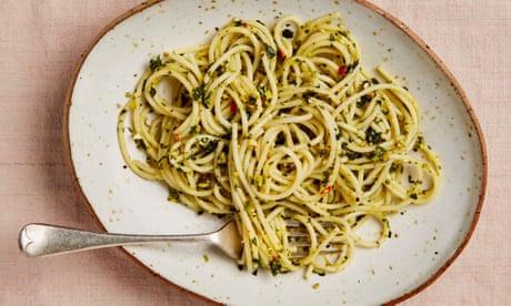 Meera Sodha's vegan spaghetti recipe with pistachio, chilli and lemon