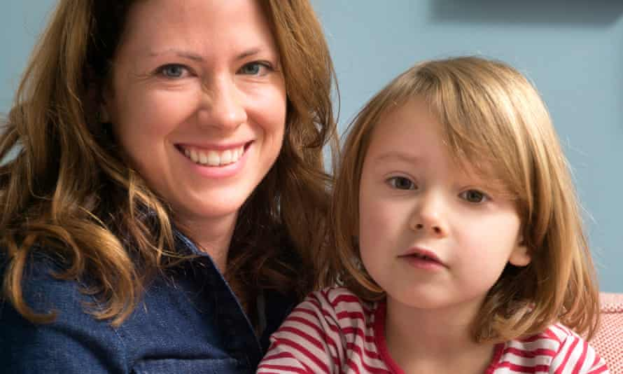 Nicola Skinner with four-year-old Polly, who has started learning to read.