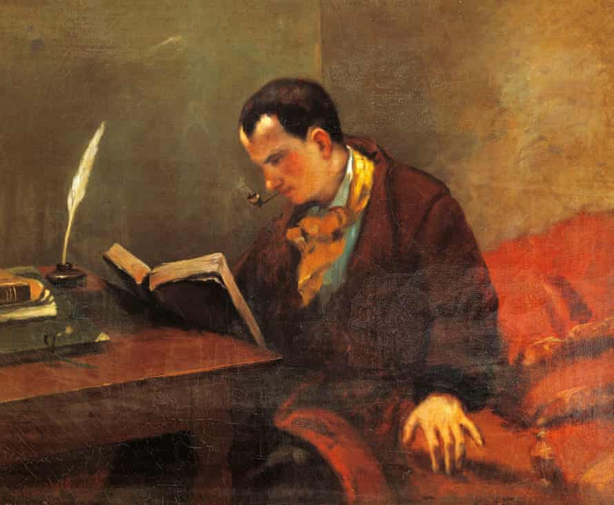 Gustave Courbet's 1847 painting of Charles Baudelaire, one of prose poetry's earliest exponents