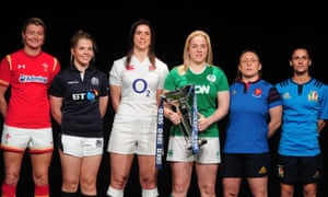 The captains of the 2016 women's Six Nations