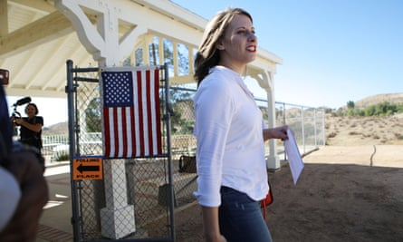 Katie Hill in Agua Dulce, California, on 6 November 2018.