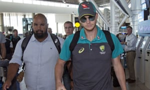 Steve Smith prepares to depart Cape Town for Johannesburg on Tuesday before the final Test of Australia's series against South Africa.