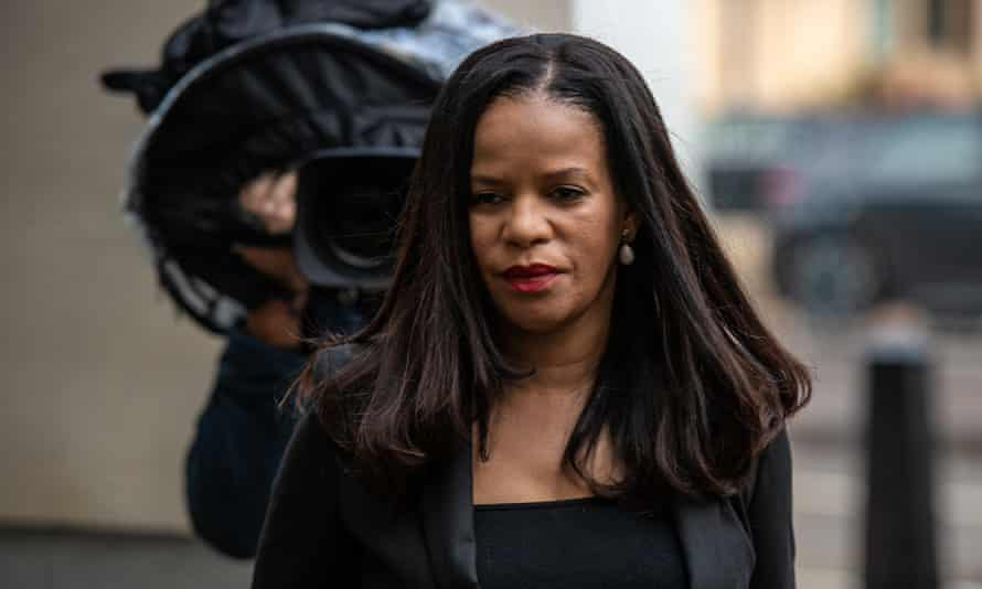 Claudia Webbe outside the City of Westminster magistrates court