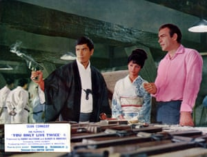 Tetsuro Tamba, Akiko Wakabayashi and Sean Connery in You Only Live Twice