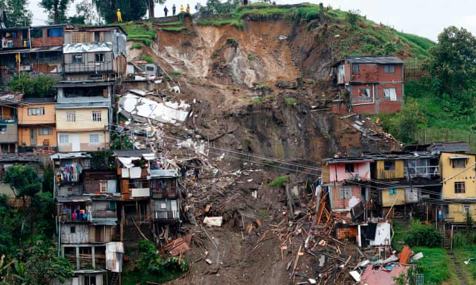 The city of Manizales in central Colombia following a mudslide in April 2017