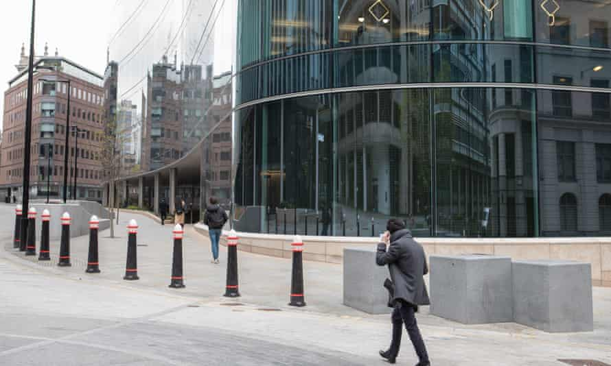 Goldman Sachs workers go back to work in London.