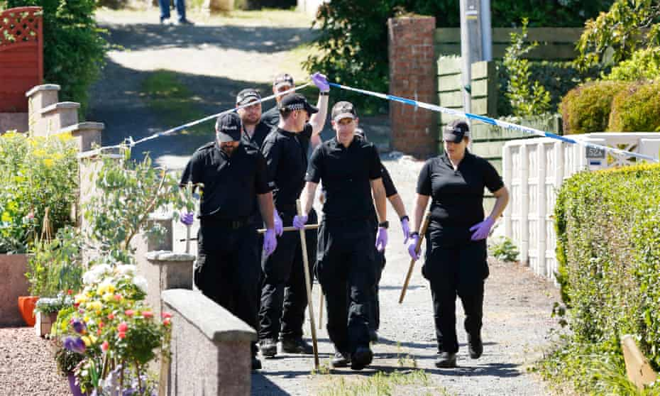 Police investigate on Bute. Alesha's body was found on the site of a former hotel in Ardbeg Road on Monday.