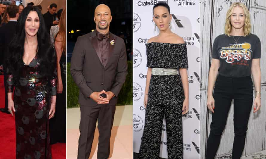 Cher, Common, Katy Perry and Chelsea Handler are all planning to protest.