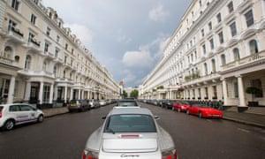 An expensive street in Kensington, London