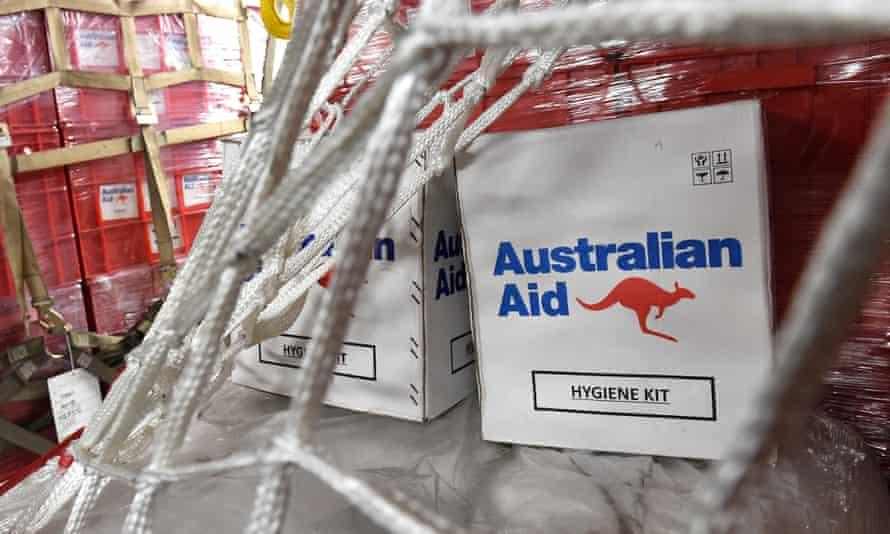 Australian aid cargo