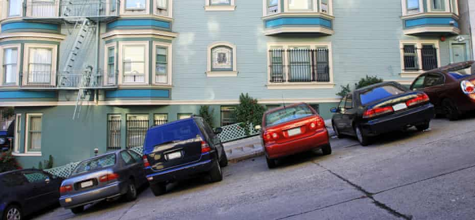 A typical road in San Francisco.