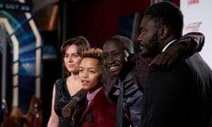 Jill Halfpenny, Max Fincham, Tut Nyuot and Babou Ceesay in Dark Money.