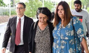 Naomi Williams's mother, Sharon Williams (centre), at the NSW coroner's court for her inquest