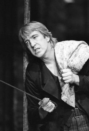 Alan Rickman as Hamlet in 1992.