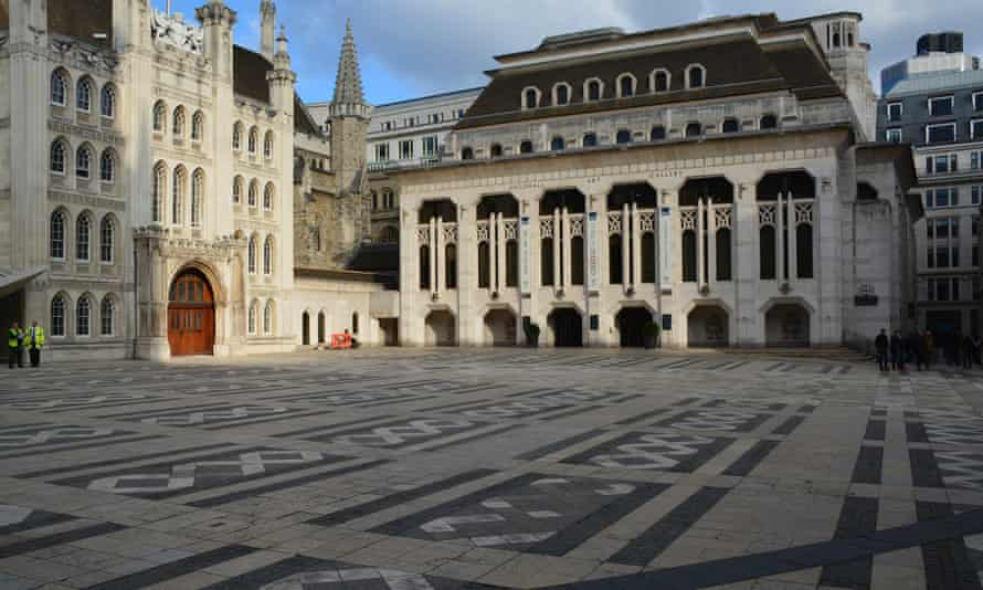 The Guildhall Art Gallery in London by Richard Gilbert Scott
