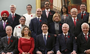 Justin Trudeau [bottom row center) poses with the new cabinet. canada