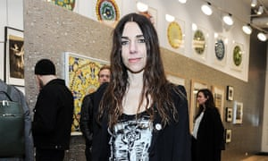 """Musician PJ Harvey attends the Sue Webster """"Folly Acres Cook Book"""" launch party at 458 Broome Street on April 8, 2015 in New York City."""