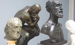 The Man with the Broken Nose by Auguste Rodin, alongside other works by Rodin, at the Danish art museum Glyptoteket in Copenhagen