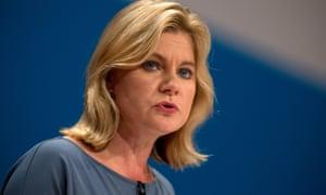 The education secretary, Justine Greening