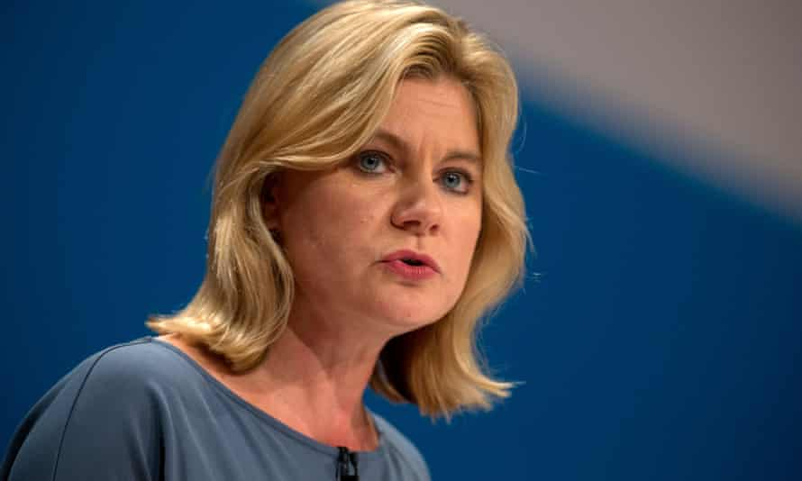 The education secretary, Justine Greening