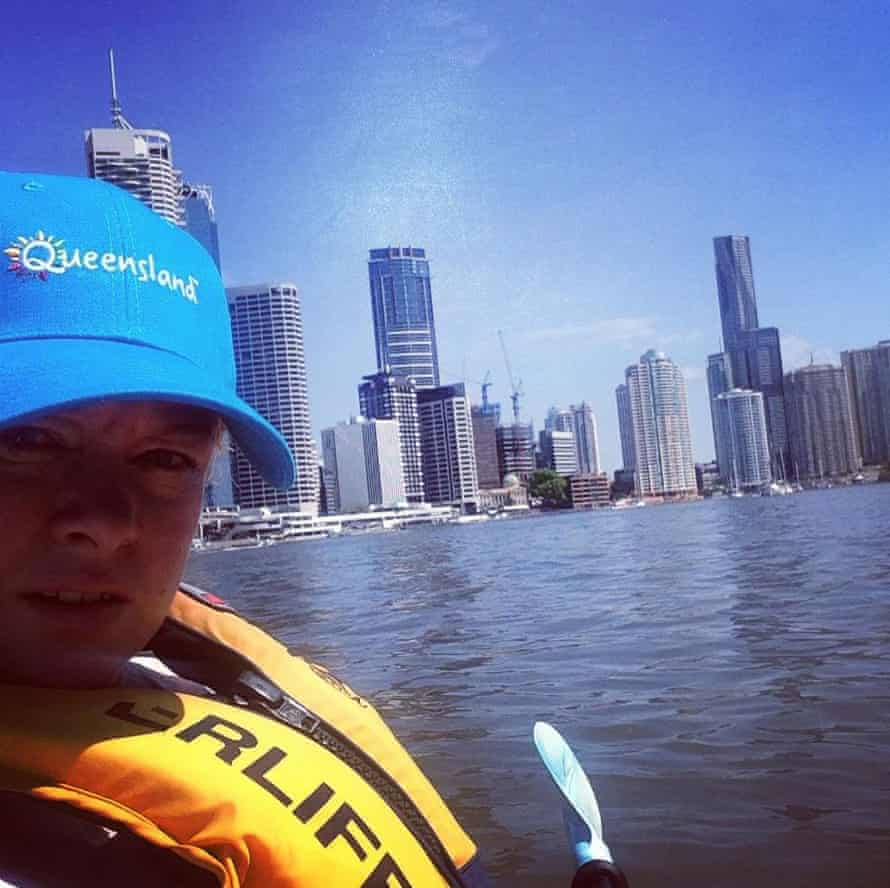 Kayaking on the Brisbane River April 2015.