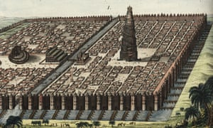 The city walls of Babylon in an engraving by Friedrich Johann Bertuch.