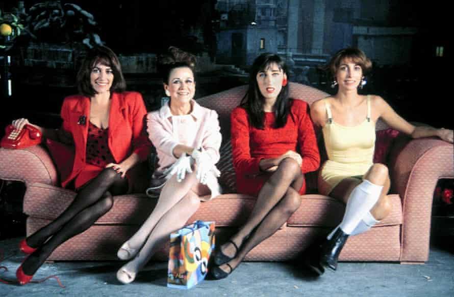 Carmen Maura, Julieta Serrano, Rossy de Palma and Maria Barranco in Women on the Verge of a Nervous Breakdown.