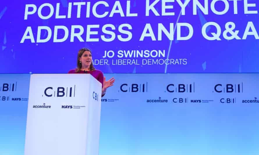 Liberal Democrat leader Jo Swinson